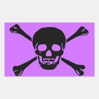 """Pegatinas del """"cráneo y de la bandera pirata"""" rectangular altavoz"""