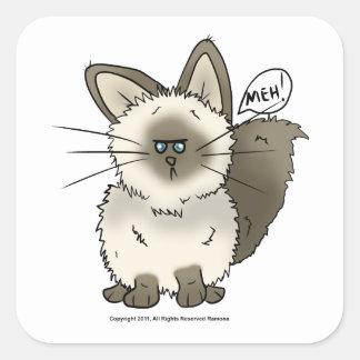Pegatinas del cuadrado del gato de Meh