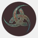Pegatinas del cuerno de Odin Etiquetas Redondas