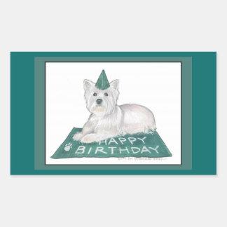Pegatinas del cumpleaños de Westie