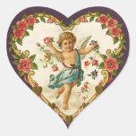 Pegatinas del Cupid de la tarjeta del día de San Pegatina En Forma De Corazón