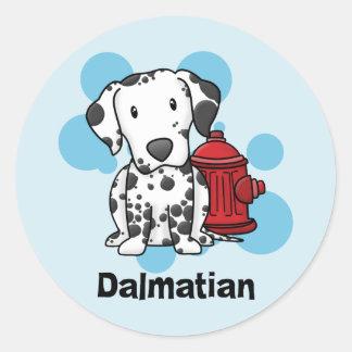 Pegatinas del Dalmatian y de la boca de incendios Pegatina Redonda