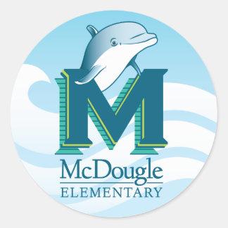 Pegatinas del delfín de McDougle Pegatina Redonda