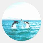 Pegatinas del delfín pegatina redonda