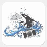 Pegatinas del delfín y de la cámara