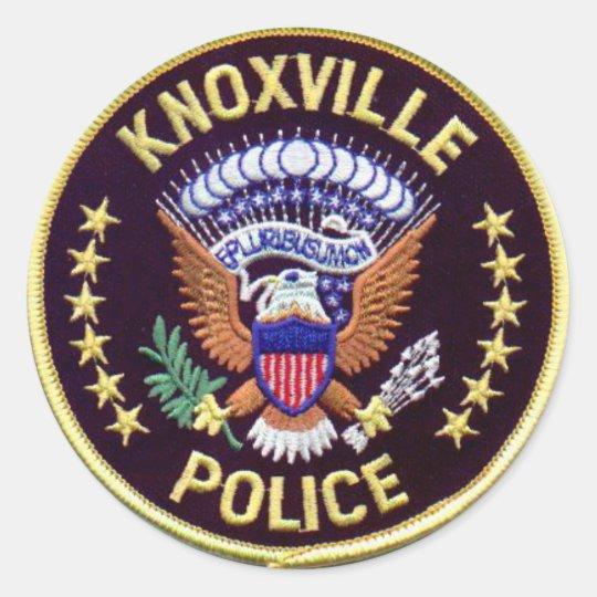 Pegatinas del Departamento de Policía de Knoxville Pegatina Redonda