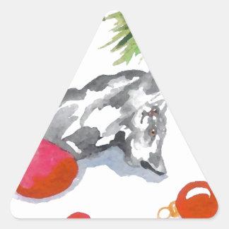 Pegatinas del día de fiesta del árbol del gato del calcomania trianguladas personalizadas