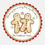 Pegatinas del día de fiesta del navidad de los etiquetas redondas