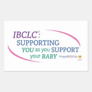 Pegatinas del día de IBCLC® (ingleses) Pegatina Rectangular