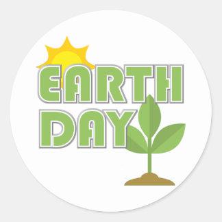 Pegatinas del Día de la Tierra Pegatina Redonda