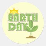 Pegatinas del Día de la Tierra Pegatinas Redondas