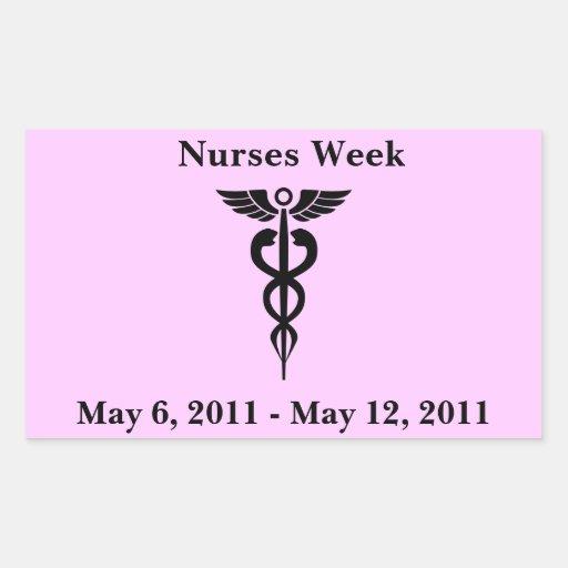 Pegatinas del día de las enfermeras rectangular altavoces