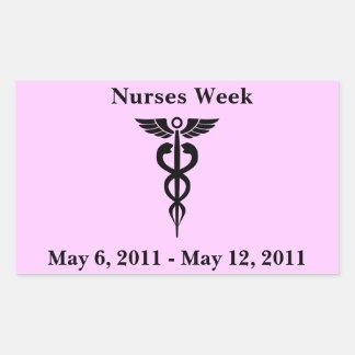 Pegatinas del día de las enfermeras pegatina rectangular