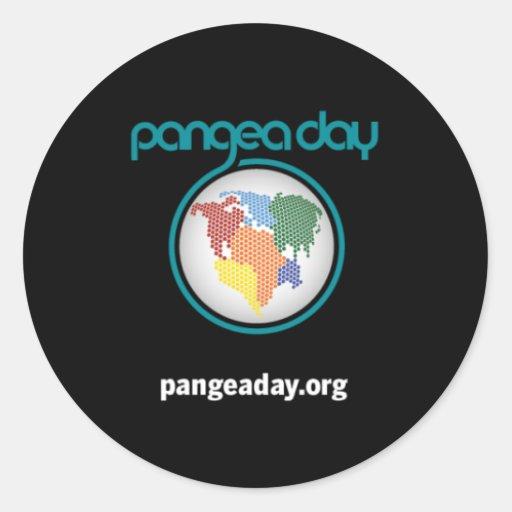 Pegatinas del día de Pangea Pegatinas Redondas