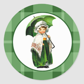 Pegatinas del día de St Patrick del diseño del Pegatina Redonda