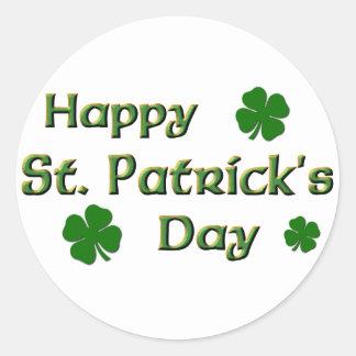 Pegatinas del día de St Patrick feliz Pegatina Redonda