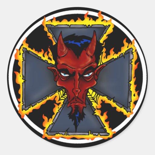 Pegatinas del diablo de Kustom
