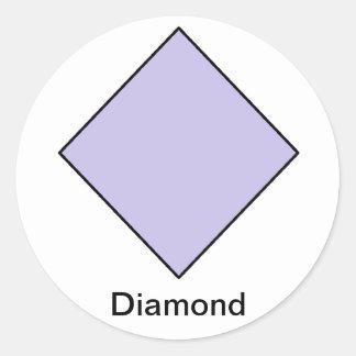 Pegatinas del diamante etiquetas redondas