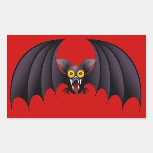 Pegatinas del dibujo animado del palo de Halloween Rectangular Altavoz
