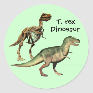 Pegatinas del dinosaurio del rex del T. Pegatina Redonda