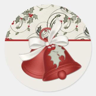 Pegatinas del diseño 1 de Belces de navidad Pegatina Redonda