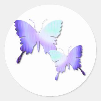 Pegatinas del diseño de la mariposa pegatina redonda