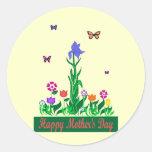 Pegatinas del diseño del día de madres pegatina redonda