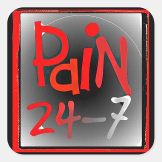 Pegatinas del dolor 24/7 - enfermedad invisible pegatina cuadradas personalizadas
