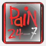 Pegatinas del dolor 24/7 - enfermedad invisible pegatina cuadrada
