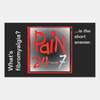 Pegatinas del dolor 24/7 - enfermedad invisible pegatina rectangular