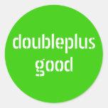 pegatinas del doubleplusgood etiqueta redonda