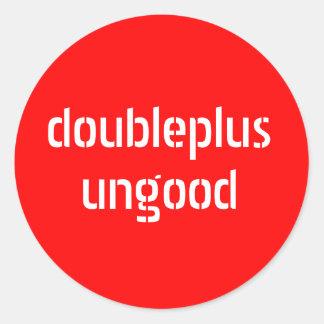 pegatinas del doubleplusungood pegatina redonda