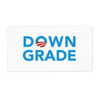 Pegatinas del Downgrade de Obama Etiqueta De Envío
