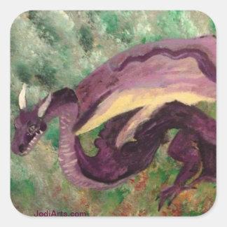 Pegatinas del dragón colcomanias cuadradases