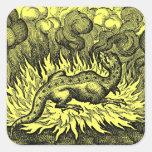 Pegatinas del dragón del fuego