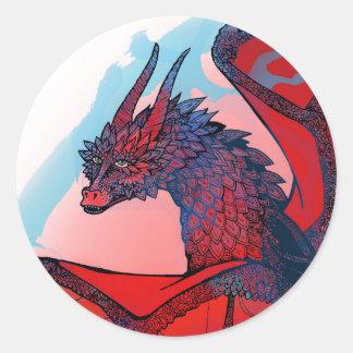 Pegatinas del dragón pegatina redonda