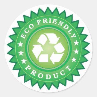 pegatinas del eco-amistoso-producto pegatinas redondas