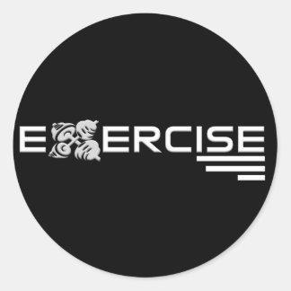 Pegatinas del ejercicio etiqueta redonda