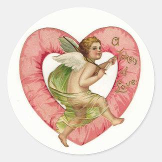 Pegatinas del el día de San Valentín Pegatinas Redondas