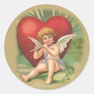 Pegatinas del el día de San Valentín Etiquetas Redondas
