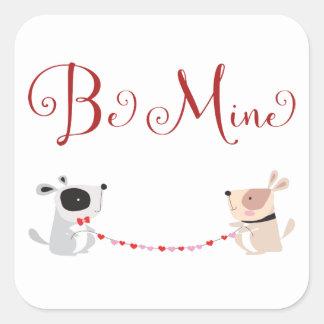 Pegatinas del el día de San Valentín del amor Pegatina Cuadrada