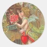 Pegatinas del el día de San Valentín del Victorian Pegatina Redonda
