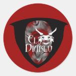 Pegatinas del EL Diablo Etiqueta Redonda