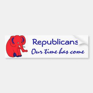 Pegatinas del elefante de Repulicans de los BN Pegatina Para Auto