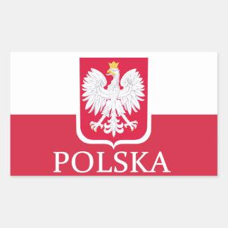 Pegatinas del escudo de armas de la bandera de pegatina rectangular
