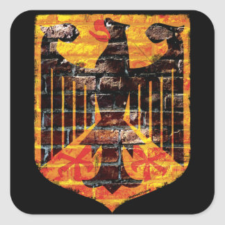 Pegatinas del escudo de Eagle del alemán Pegatina Cuadrada