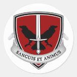Pegatinas del escudo de la escuela de Evernight Etiqueta Redonda