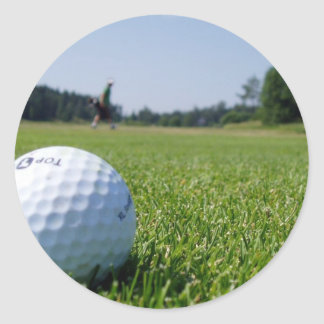 Pegatinas del espacio abierto del golf pegatinas redondas