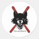 Pegatinas del esquí/del casco de Wolfpack Etiquetas Redondas