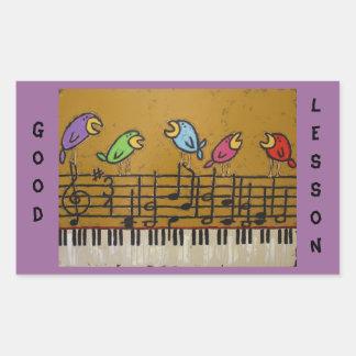 pegatinas del estudiante del piano rectangular pegatinas